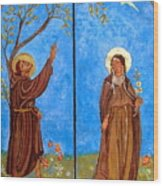 Francis And Claire Triptych Wood Print