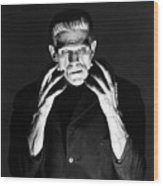 Frankensteins Monster Boris Karloff Wood Print