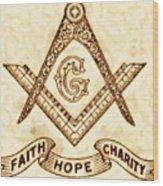 Freemason Symbolism By Pierre Blanchard Wood Print