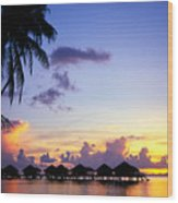 French Polynesia, Huahine Wood Print