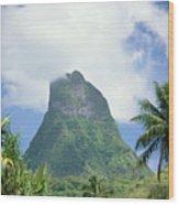 French Polynesia Moorea Wood Print