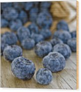 Fresh Blueberries Wood Print