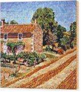 Fresh Cut Hay Provence Wood Print