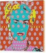 Frida Wood Print by Ricky Sencion