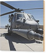 Front View Of A Hh-60g Pave Hawk Wood Print