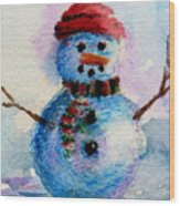 Frosty Aceo Wood Print