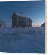 Frozen And Forgotten Wood Print