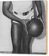 Future Brooklyn Dodger Jackie Robinson Wood Print by Everett