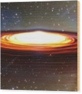 Galactic Core Wood Print