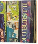 Game Shelf II Wood Print