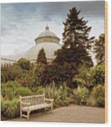 Garden Conservatory Wood Print