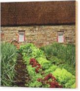 Garden Farm Wood Print