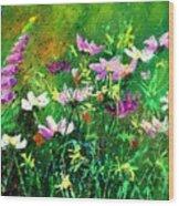 Garden Flowers Wood Print