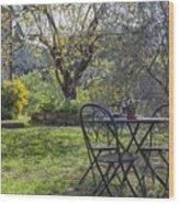 Garden In Spring Wood Print