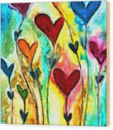 Garden Of Love Wood Print