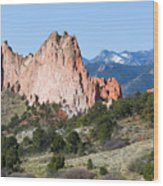 Garden Of The Gods Park In Colorado Springs In The Morning Wood Print