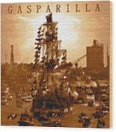 Gasparilla Invasion  Wood Print