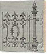 Gate And Gatepost Wood Print