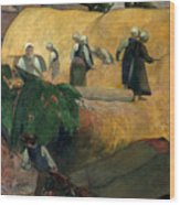 Gauguin: Breton Women Wood Print
