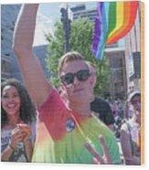 Gay Pride Wood Print