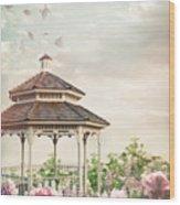 Gazebo In Summer Flower Garden Wood Print