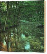 Gentle Stream Wood Print