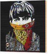 George Harrison wearing a face mask Wood Print