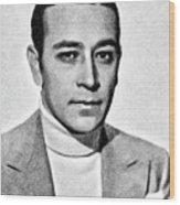 George Raft, Vintage Actor By Js Wood Print