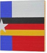 German-texan Flag Wood Print