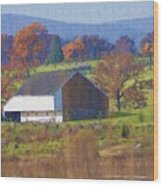 Gettysburg Barn Wood Print by Bill Cannon