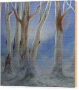 Ghostgum Mist Wood Print
