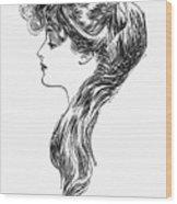 Gibson Girl, 1903 Wood Print
