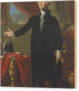 Gilbert Stuart - George Washington 1796 Wood Print
