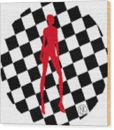 Girls. Red. II Wood Print
