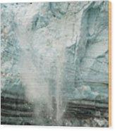 Glacier Calving 1a Wood Print
