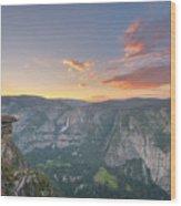 Glacier Point Sunset  Wood Print