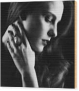 Glamorous Woman Wood Print