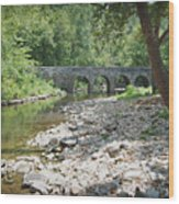 Glass Mill Bridge Wood Print