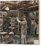 Glassblower Sessions 10 Wood Print