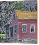 Glenbrook Carriage House Wood Print