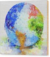 Globe Painting Wood Print