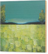 Canola Field N04 Wood Print