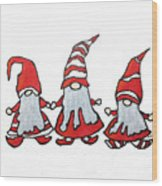 Gnomes Wood Print