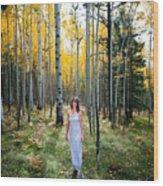 Goddess Walk Wood Print