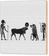 Gods And Goddess Of Ancient Egypt Wood Print