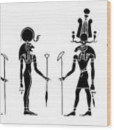Gods Of Ancient Egypt Wood Print
