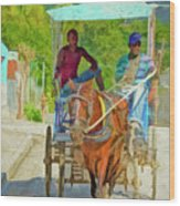 Going To Market 2 Wood Print