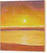 Gold Sunset Wood Print
