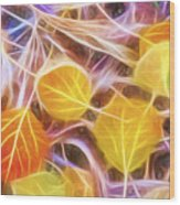 Golden Autumn Wood Print