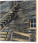 Golden Barn  Wood Print
